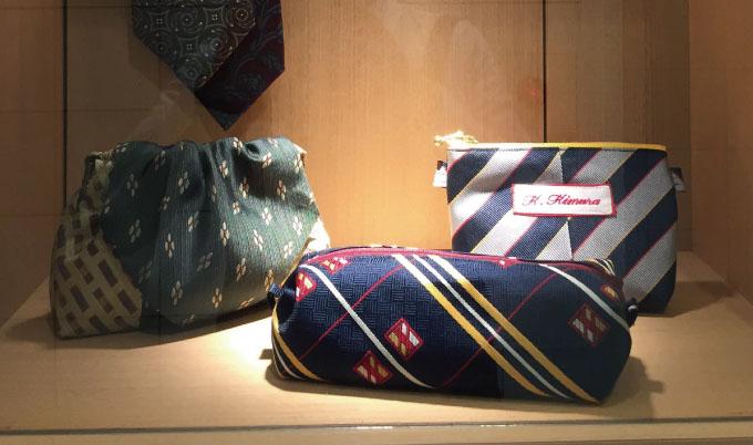 ネクタイをポーチに作りかえる