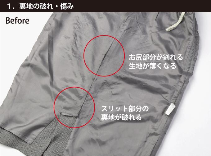 """""""1.裏地の破れ・傷み""""/"""